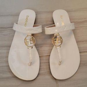 Bebe white sandals